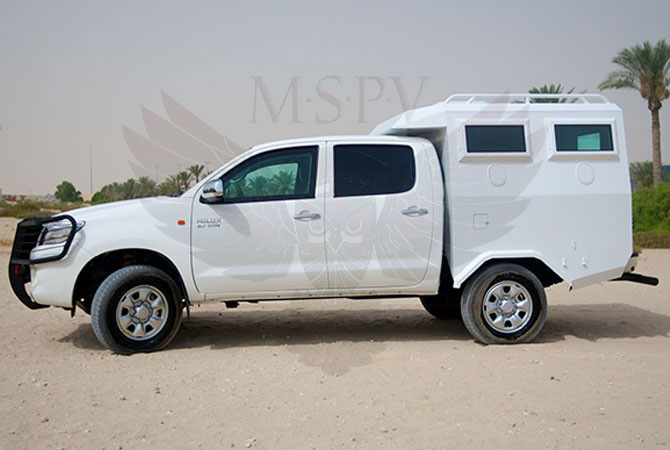 Armoured Troop Carrier Rwanda - Toyota Hilux
